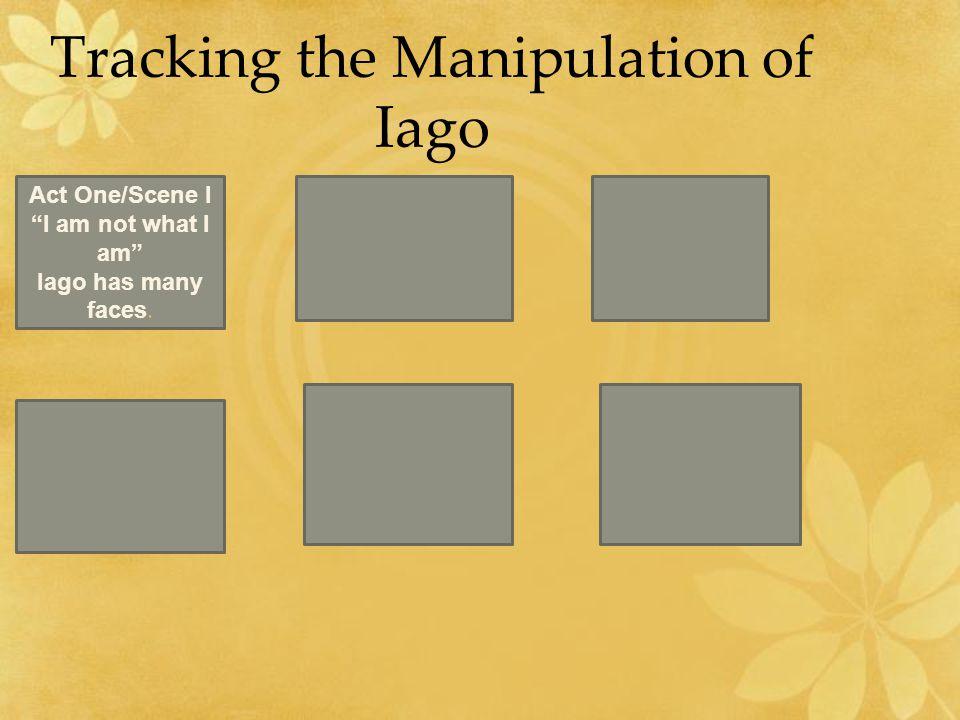 Tracking the Manipulation of Iago Act One/Scene I I am not what I am Iago has many faces.