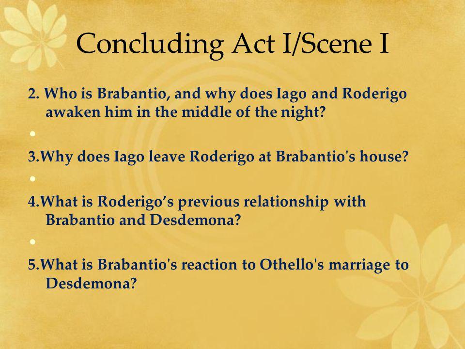 Concluding Act I/Scene I 2.