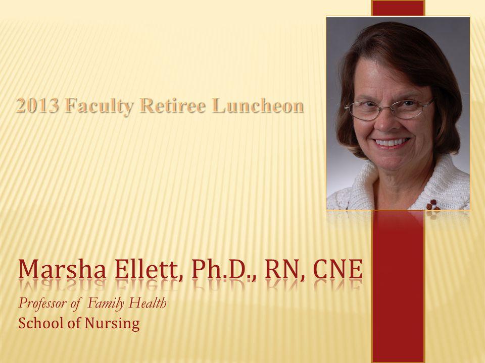 Professor of Family Health School of Nursing