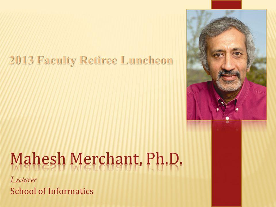Lecturer School of Informatics
