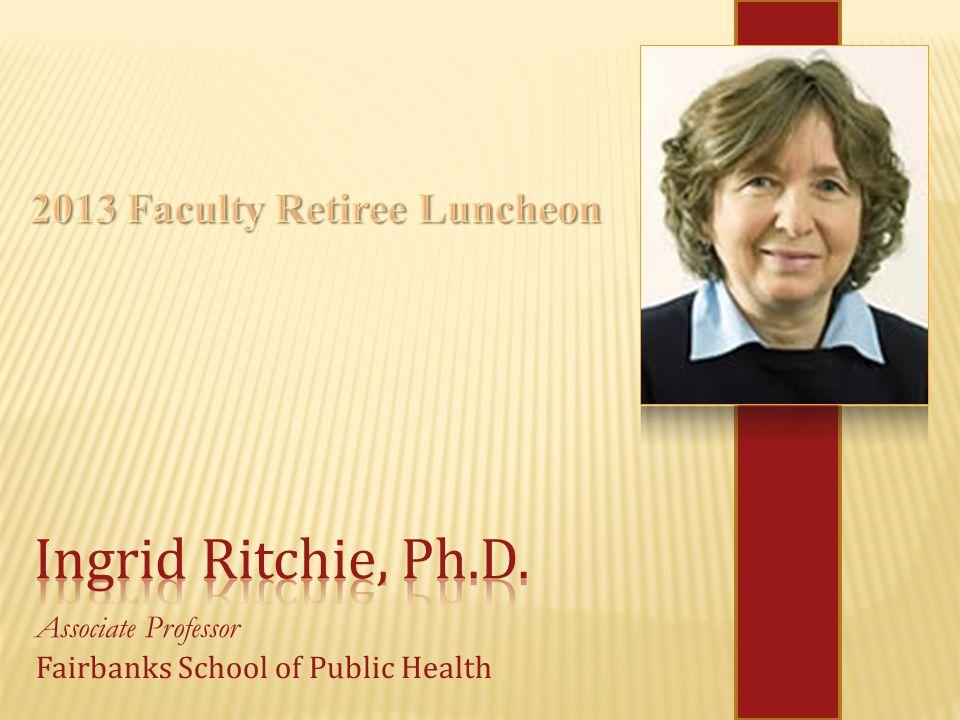 Associate Professor Fairbanks School of Public Health