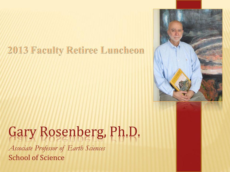 Associate Professor of Earth Sciences School of Science