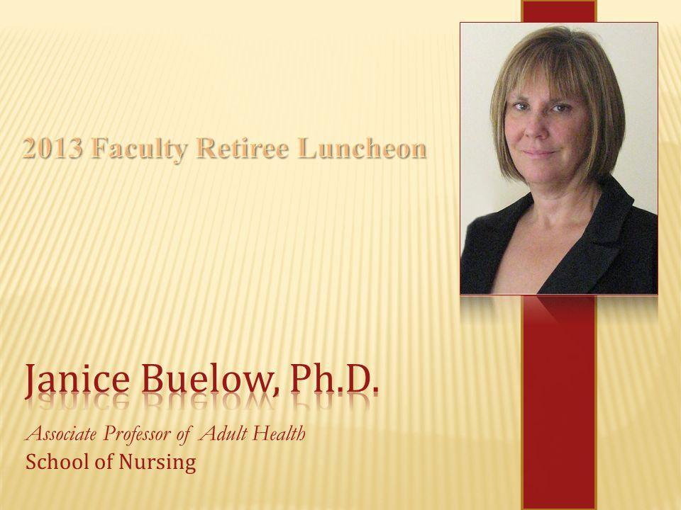 Associate Professor of Adult Health School of Nursing
