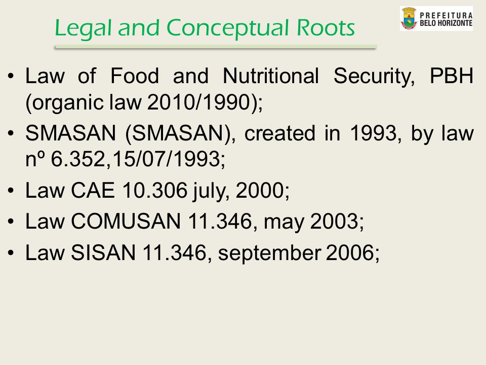 SMASAN's projects are structured based on the following lines Food and Nutricional Food Assistance Subsidized food comercialization Supply and Market regulationsPromoting and fomenting Urban AgricultureEducation to Food ConsumptionWork and Income generation