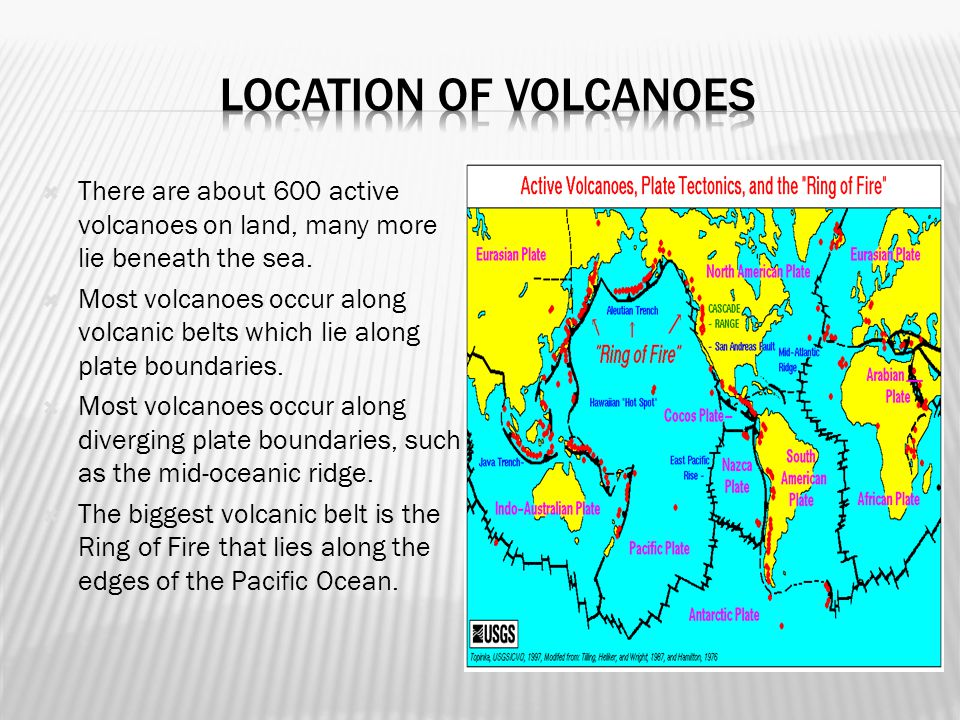  Volcanoes are weak spots in the crusts where molten material, or magma, comes to the surface.  When magma reaches the surface it is called lava. 