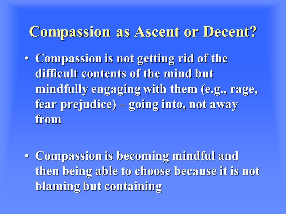 Compassion as Ascent or Decent.
