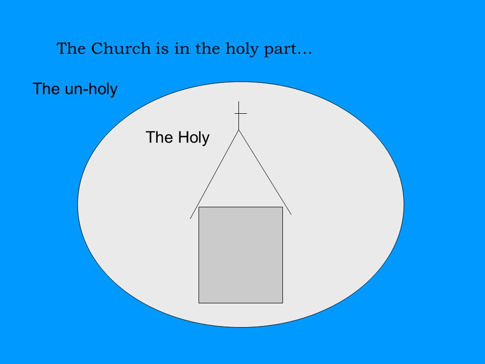The Church is in the holy part… The Holy The un-holy