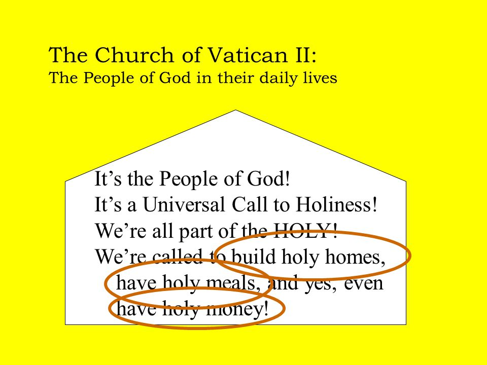 The Church of Vatican II: The People of God in their daily lives It's the People of God.