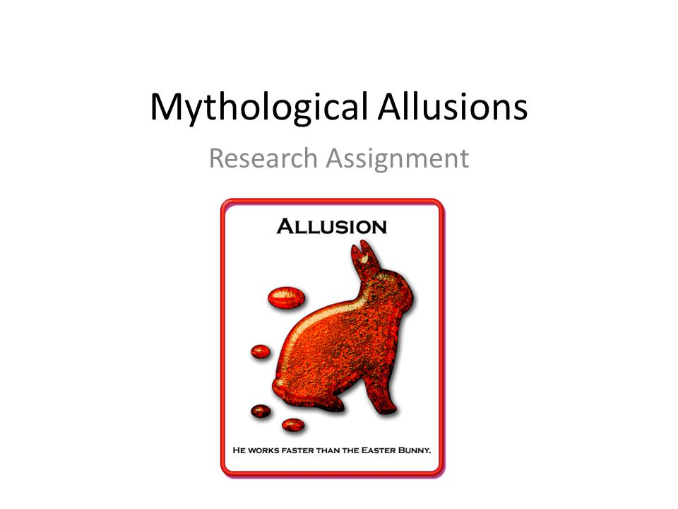Mythological Allusions Research Assignment