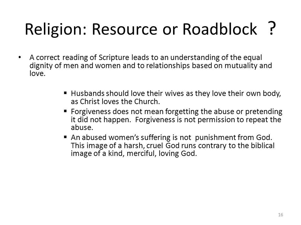 Religion: Resource or Roadblock .