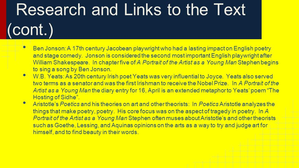 Research and Links to the Text (cont.) Ben Jonson: A 17th century Jacobean playwright who had a lasting impact on English poetry and stage comedy.