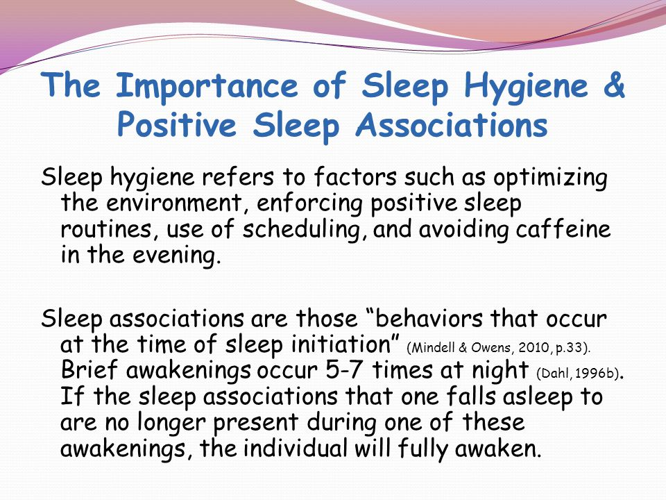 Behavioral Interventions Should be at the forefront of any plan to address sleep problem.