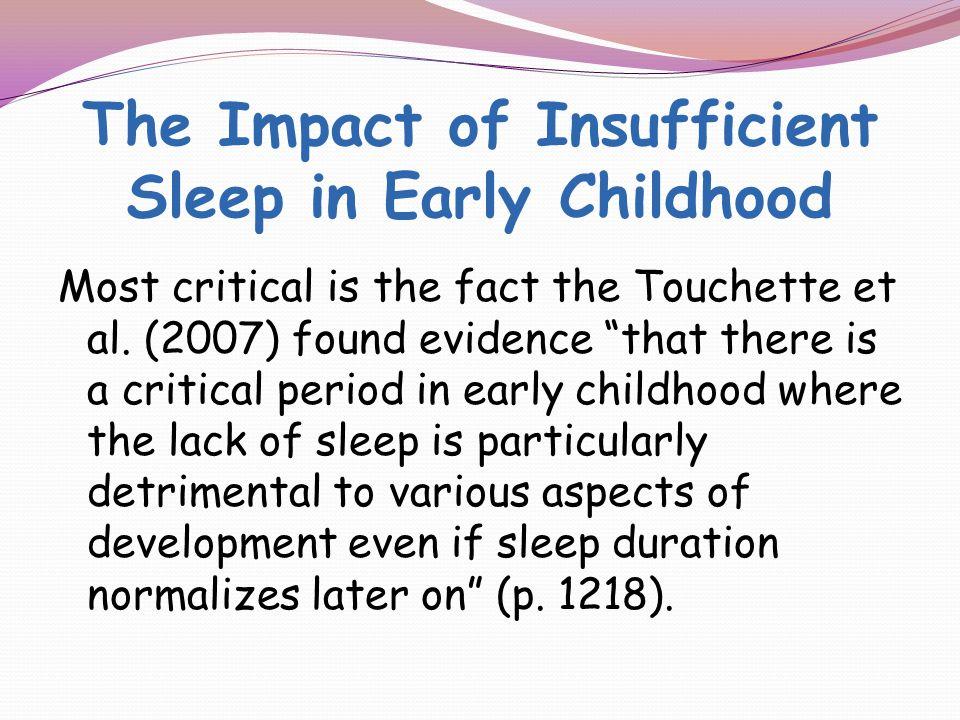 The Role of Sleep...