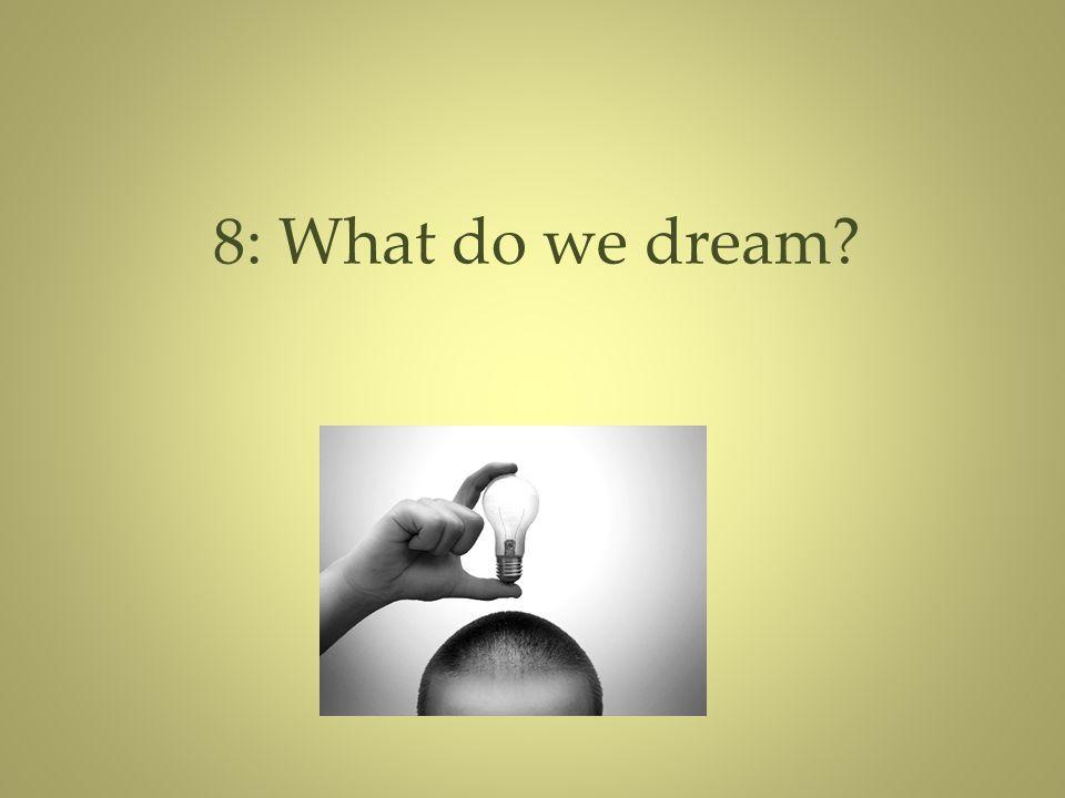 8: What do we dream?