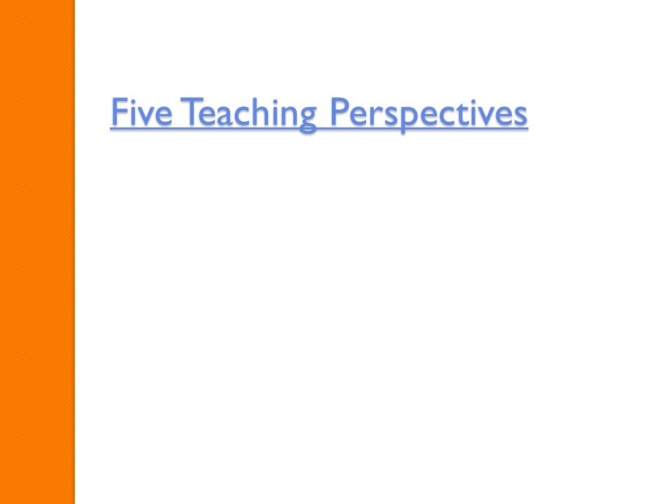 Five Teaching Perspectives Five Teaching Perspectives