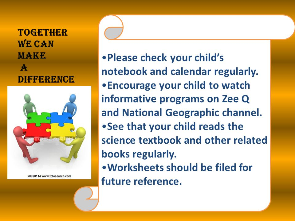Please check your child's notebook and calendar regularly.
