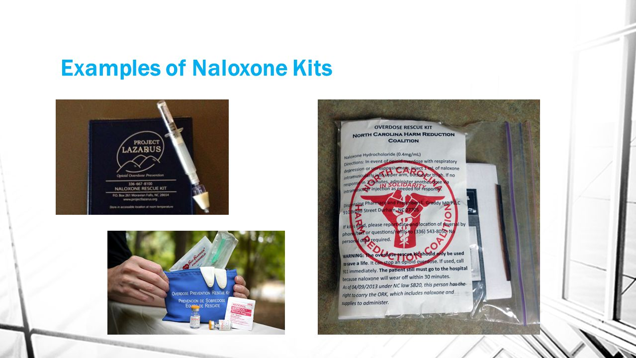 Examples of Naloxone Kits