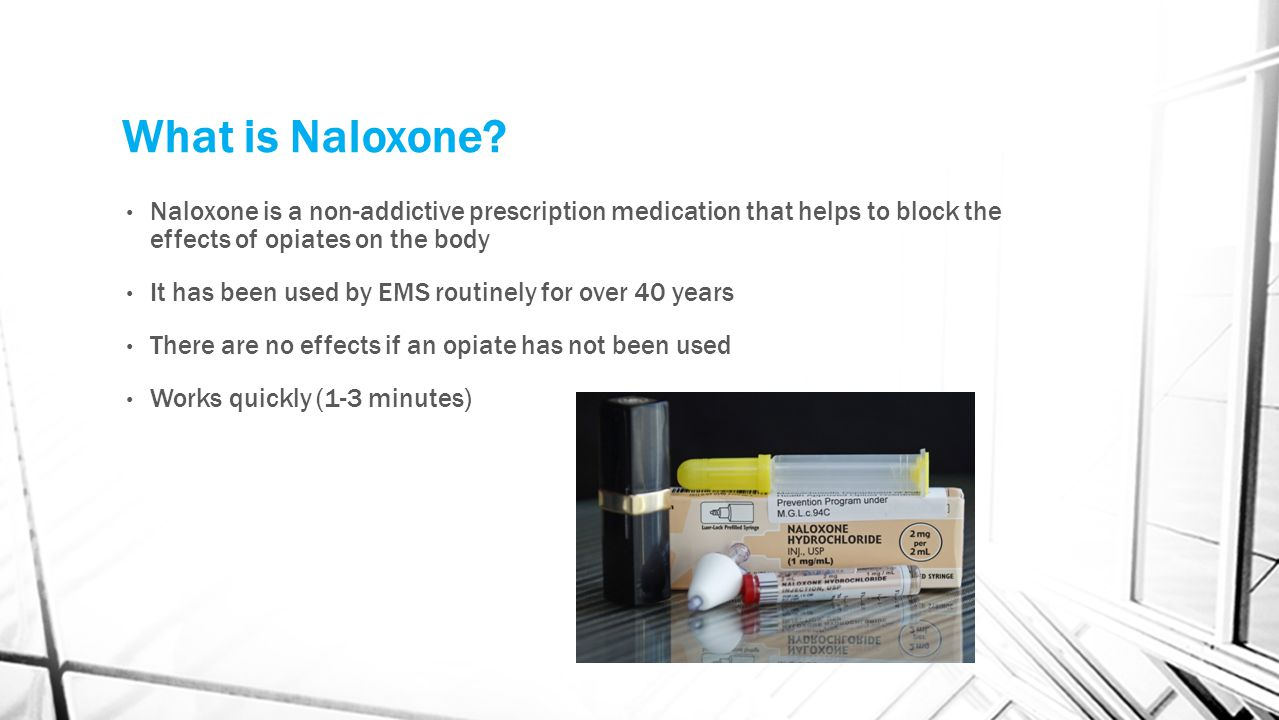 Why Do LEO's and Responders Carry Naloxone.