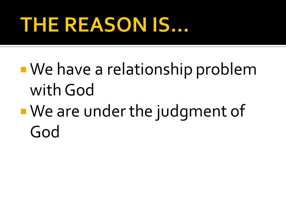  So that we will know how to respond  In the here and now, we must focus on repentance