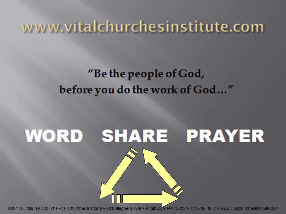 www.vitalchurchesinstitute.com ©2011 E.