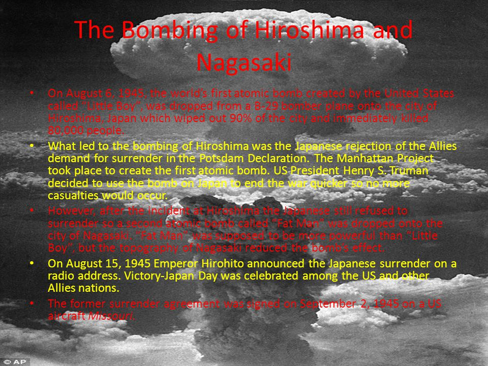 Pacific Theater In order to end WWII, was it necessary for the United States to drop the atomic bombs on Hiroshima and Nagasaki?