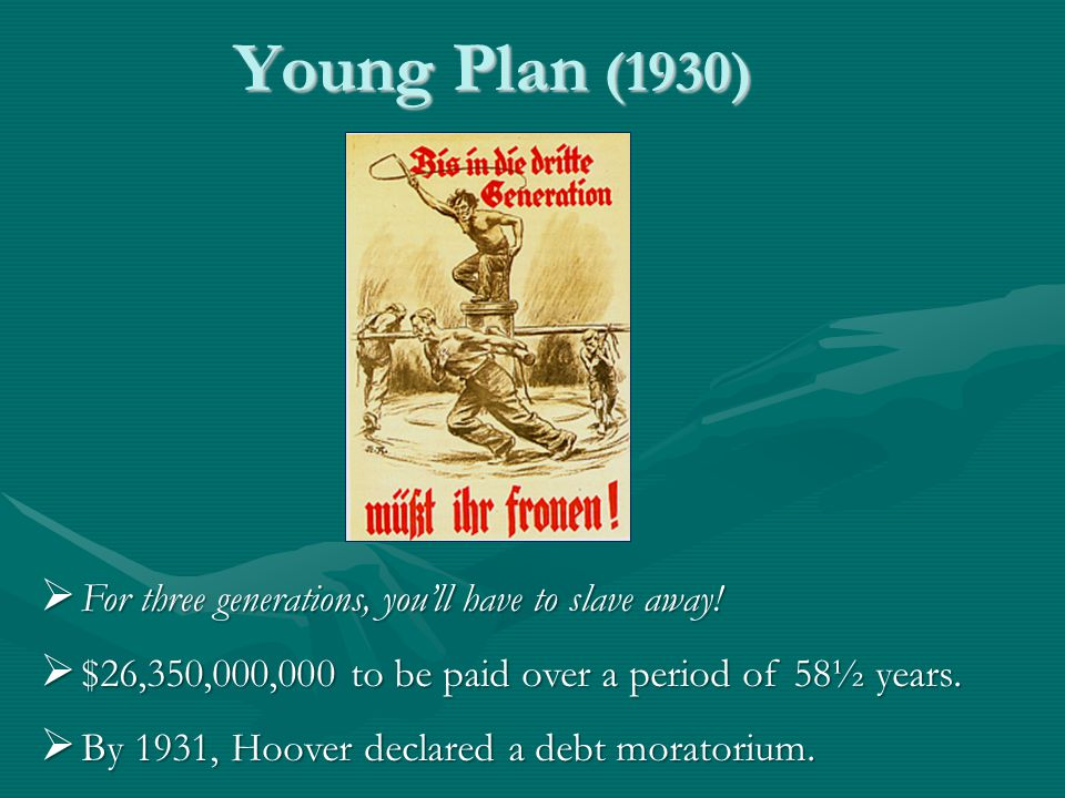 Young Plan (1930)  For three generations, you'll have to slave away.