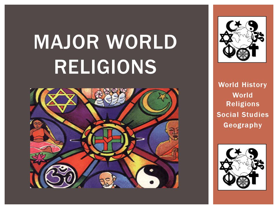 World History World Religions Social Studies Geography MAJOR WORLD RELIGIONS