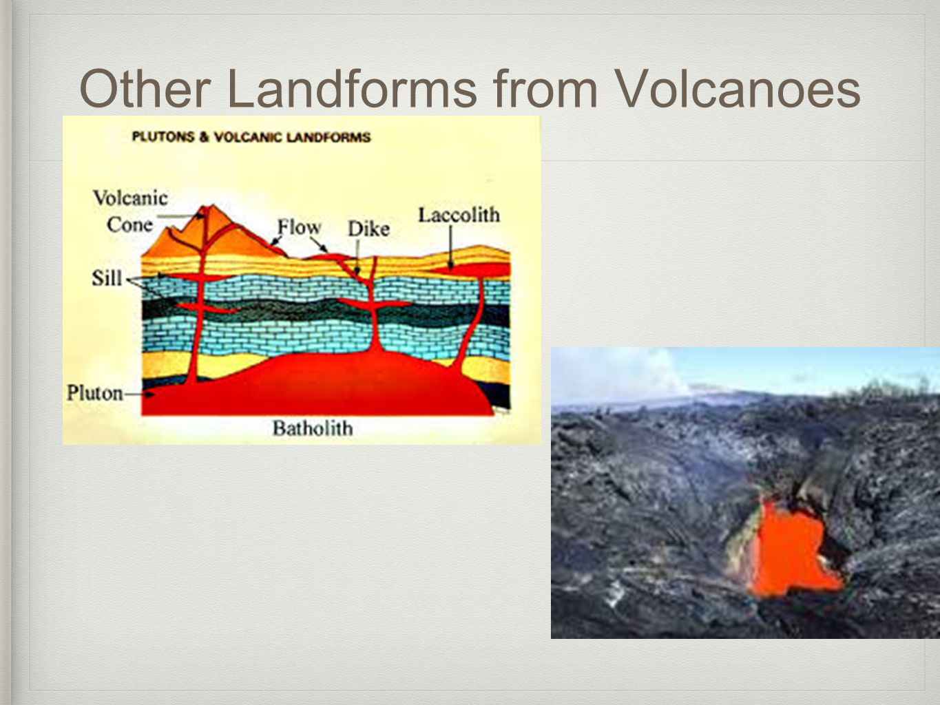 Other Landforms from Volcanoes