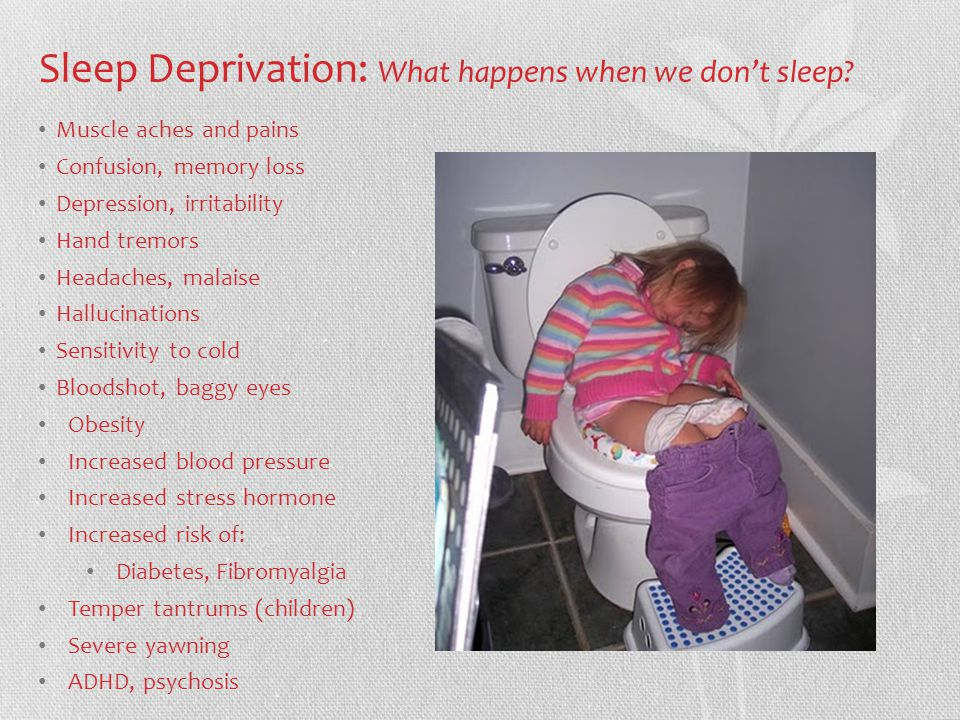 Sleep Deprivation: What happens when we don't sleep.