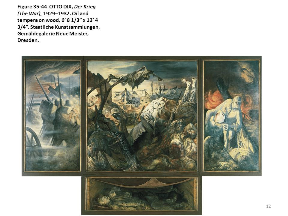 Figure 35-44 OTTO DIX, Der Krieg (The War), 1929–1932.