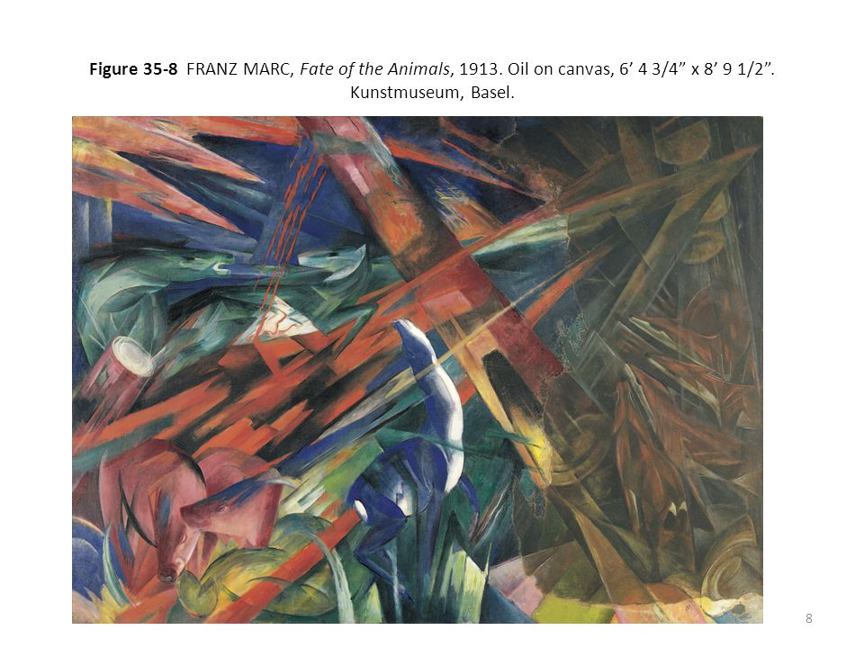 Figure 35-8 FRANZ MARC, Fate of the Animals, 1913.