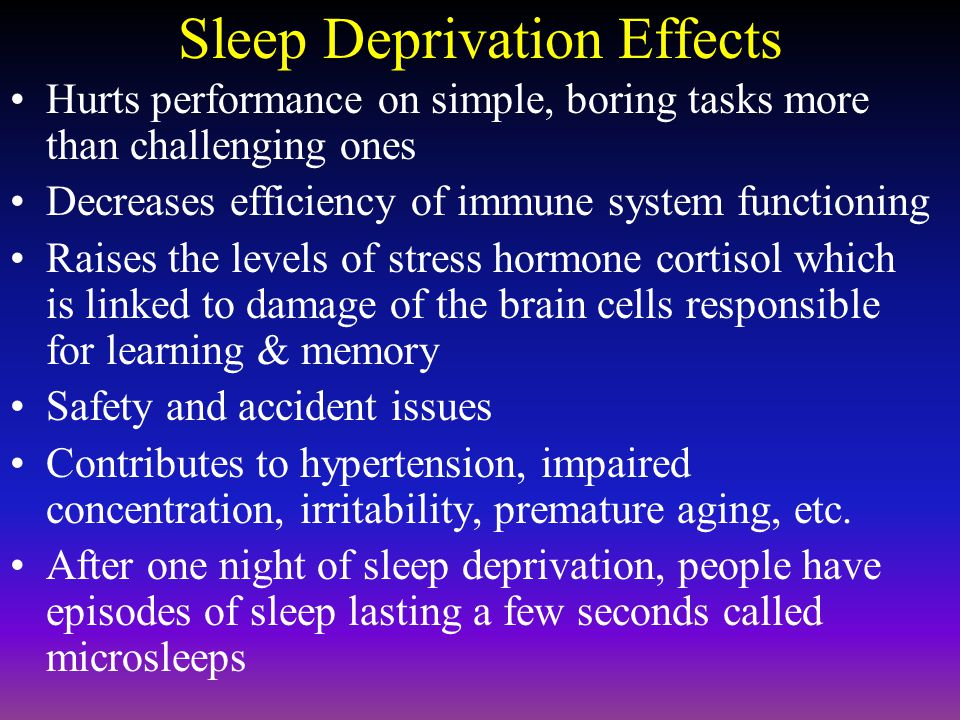 REM Sleep (Rapid Eye Movement) Stages 1 - 4 is considered N-REM –non-REM sleep Rapid Eye Movement (REM Sleep) as eyes move quickly back and forth –Most dreaming occurs in REM sleep but muscle activity is suppressed to keep you from acting them out Sleep Paralysis