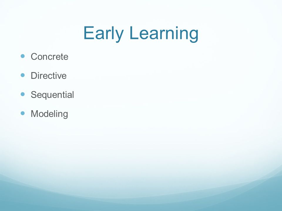 Early Learning Concrete Directive Sequential Modeling