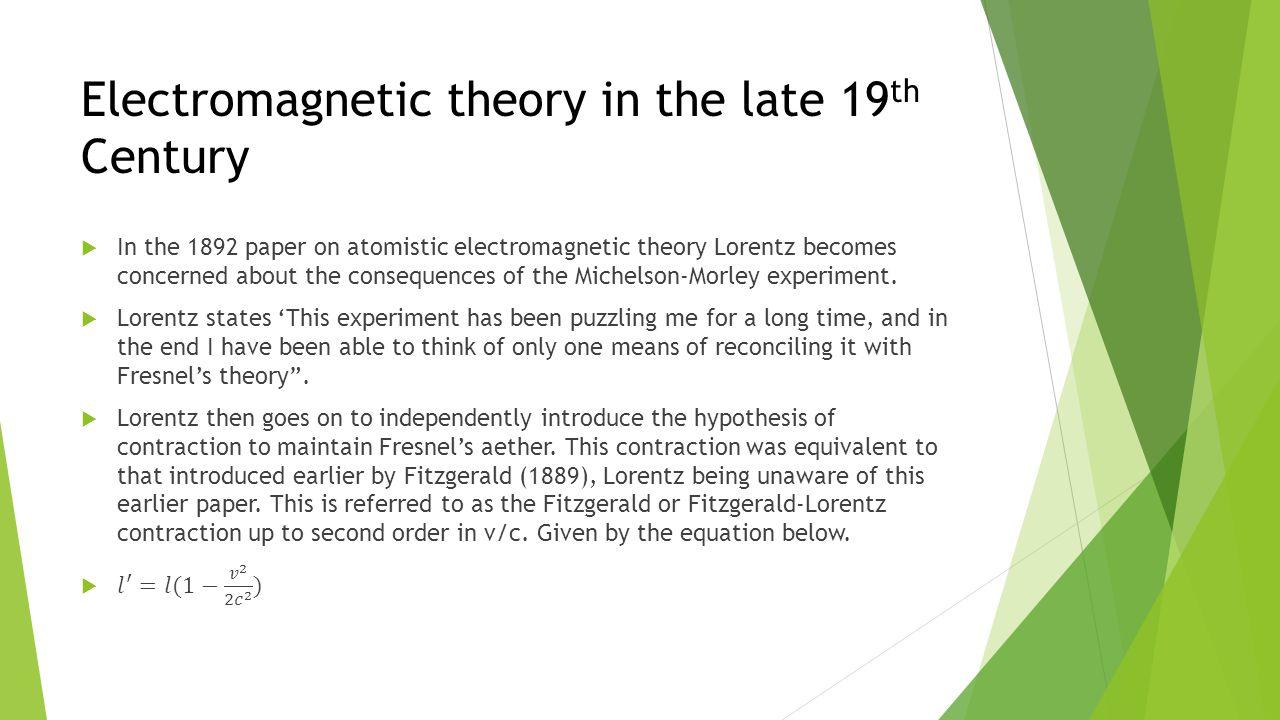 Poincaré  In 1909 Poincaré described a new mechanics based on three hypotheses.