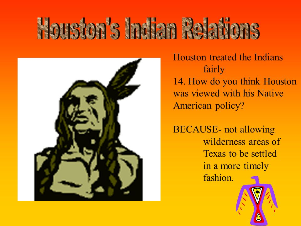 15.After ___ years. Houston had to hand over the reins to the new government.