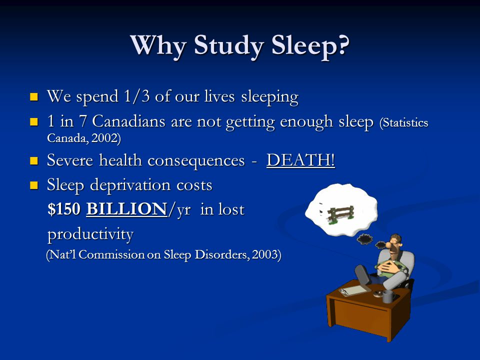 Why Study Sleep.