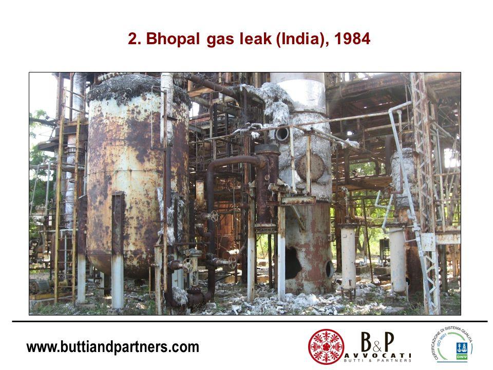 www.buttiandpartners.com 2. Bhopal gas leak (India), 1984