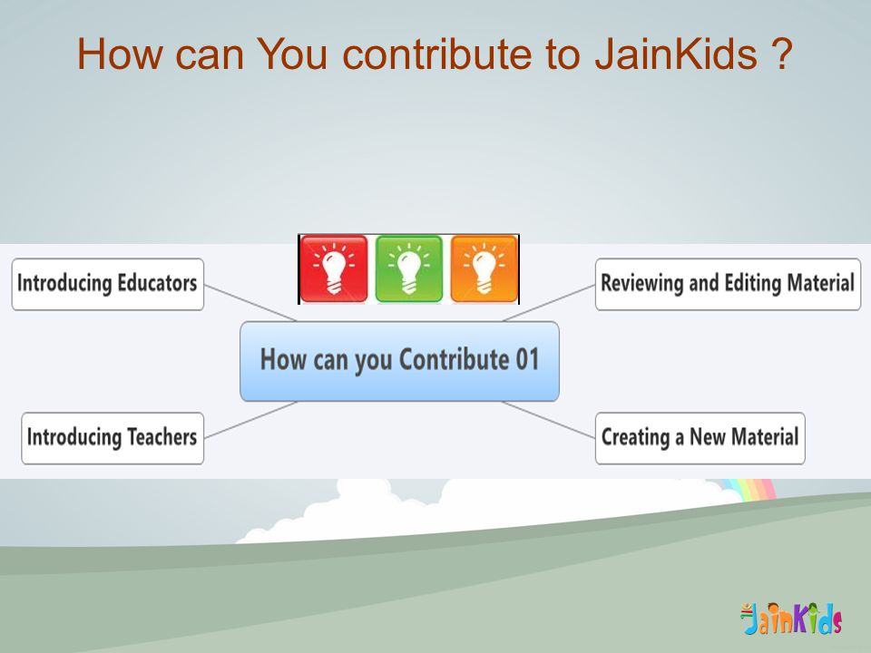How can You contribute to JainKids