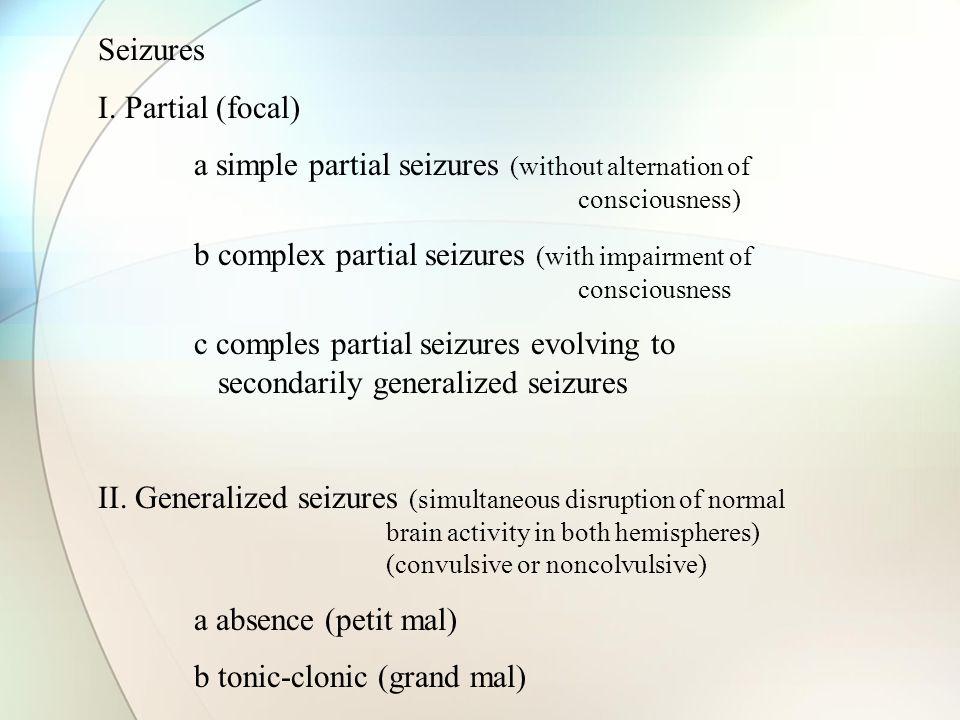 Seizures I.