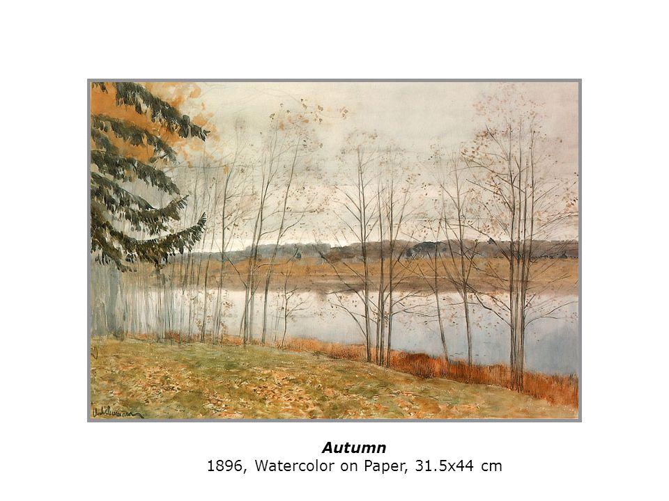 Autumn 1896, Watercolor on Paper, 31.5x44 cm