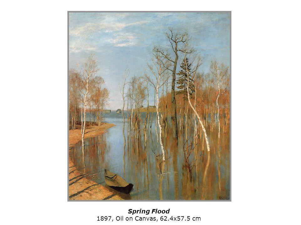 Spring Flood 1897, Oil on Canvas, 62.4x57.5 cm