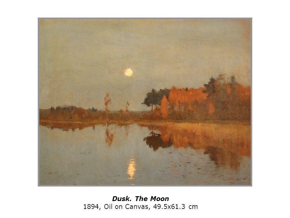 Dusk. The Moon 1894, Oil on Canvas, 49.5x61.3 cm
