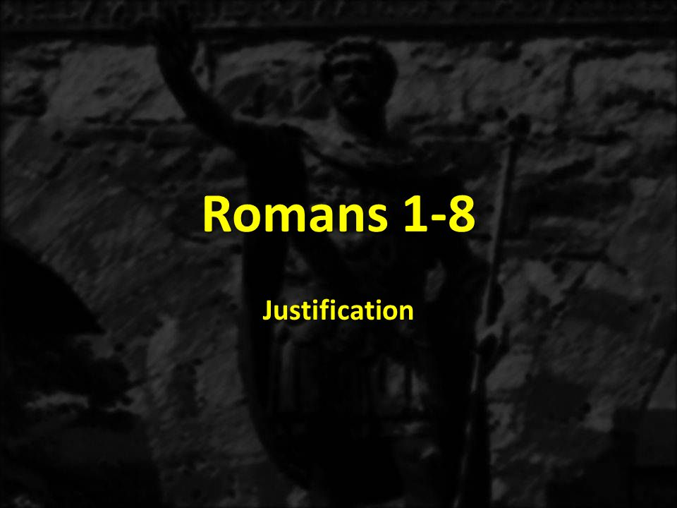 1:1-171:18-3:203:21-5:21 THE GOSPEL OF GRACE THE THREE TYPES OF SINNERS JUSTIFICATION Justification Explained 3:21-31 The Immoral Sinner 1:18-32 The Moral Sinner 2:1-16 The Religious Sinner 2:17-3:8 Conclusion: All Are Sinners 3:9-20 Accountable for the Gospel 1:1-5 Addressees The Romans 1:6-7 Aspirations in the Gospel 1:8-15 Acclamation of the Gospel: Salvation to all who believe 1:16-17 ROMANS The Justice of God Revealed THE THREE TENSES OF SALVATION