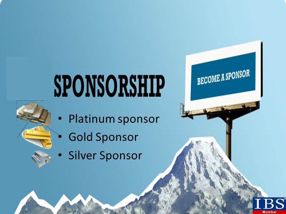 Platinum sponsor Gold Sponsor Silver Sponsor