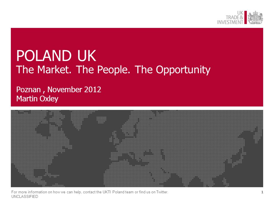 2 Emerging Europe – the potential Emerging market opportunity on the UK's doorstep – high potential, low risk A region of 100m consumers – long term strategic growth potential Trade, investment and supply chain – now is the right time to engage For more information on how we can help, contact the UKTI Poland team or find us on Twitter.