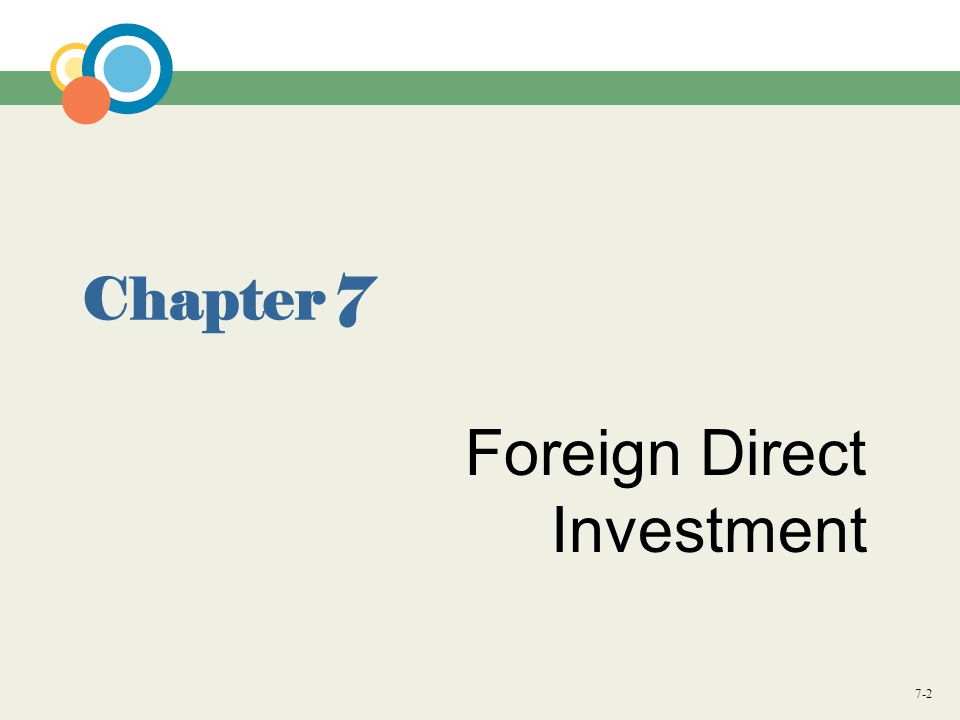 7-2 Chapter 7 Foreign Direct Investment