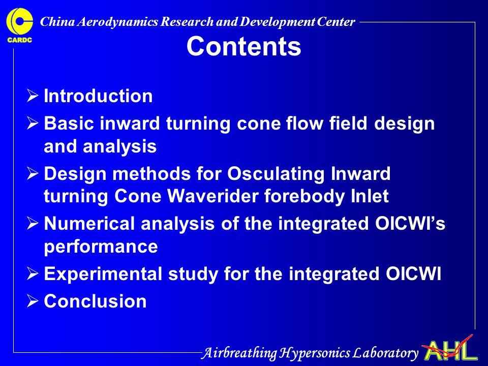 Airbreathing Hypersonics Laboratory China Aerodynamics Research and Development Center 4.