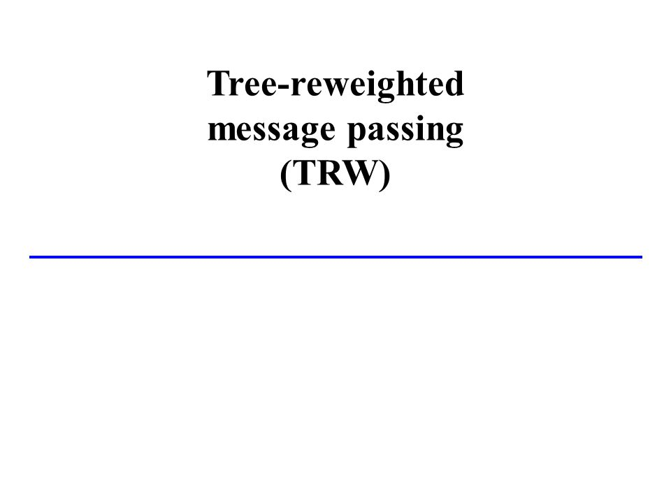 Tree-reweighted message passing (TRW)