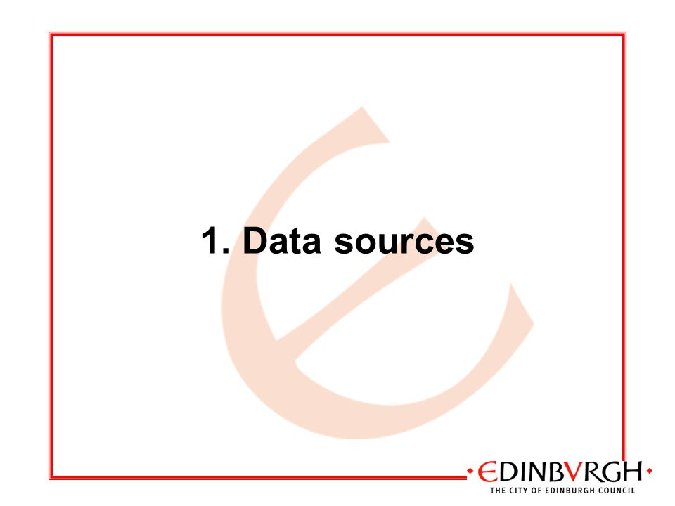 1. Data sources