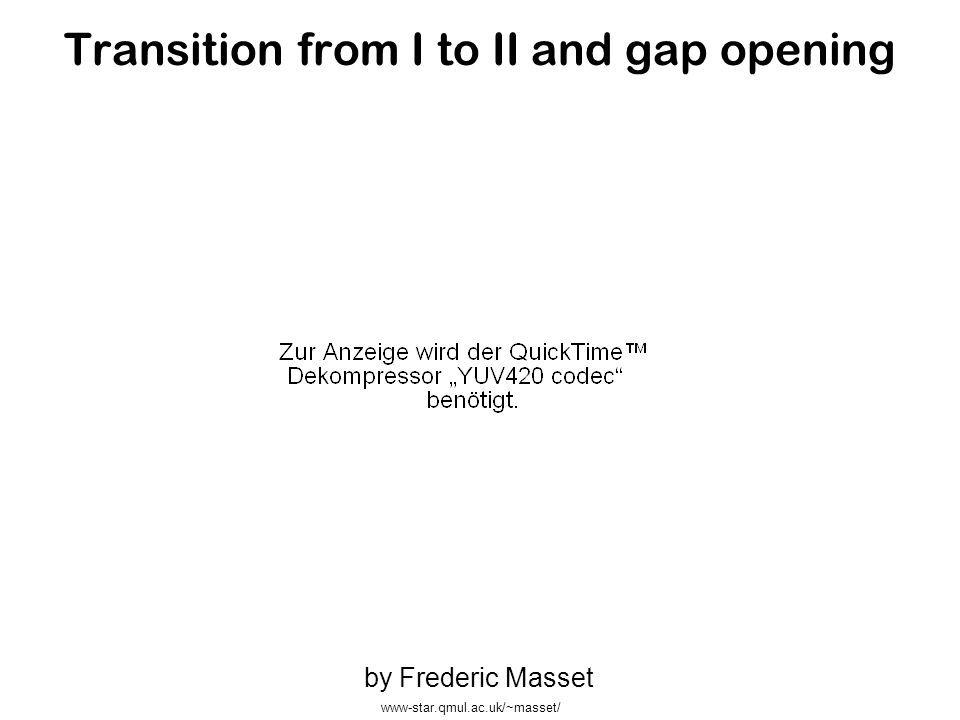 Transition from I to II and gap opening by Frederic Masset www-star.qmul.ac.uk/~masset/